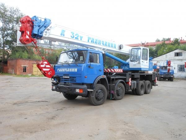 Автокрана 32 тонны Галичанин